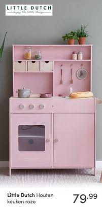 Aanbiedingen Little dutch houten keuken roze - Little Dutch - Geldig van 17/10/2021 tot 23/10/2021 bij Baby & Tiener Megastore