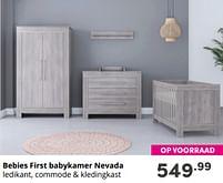 Aanbiedingen Bebies first babykamer nevada - bebiesfirst - Geldig van 17/10/2021 tot 23/10/2021 bij Baby & Tiener Megastore