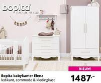 Aanbiedingen Bopita babykamer elena - Bopita - Geldig van 17/10/2021 tot 23/10/2021 bij Baby & Tiener Megastore