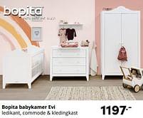 Aanbiedingen Bopita babykamer evi - Bopita - Geldig van 17/10/2021 tot 23/10/2021 bij Baby & Tiener Megastore