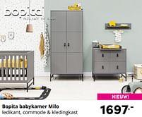 Aanbiedingen Bopita babykamer milo - Bopita - Geldig van 17/10/2021 tot 23/10/2021 bij Baby & Tiener Megastore