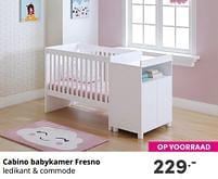 Aanbiedingen Cabino babykamer fresno - Cabino - Geldig van 17/10/2021 tot 23/10/2021 bij Baby & Tiener Megastore
