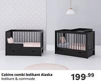 Aanbiedingen Cabino combi ledikant alaska - Cabino - Geldig van 17/10/2021 tot 23/10/2021 bij Baby & Tiener Megastore