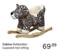 Aanbiedingen Cabino hobbeldier luipaard met zitting - Cabino - Geldig van 17/10/2021 tot 23/10/2021 bij Baby & Tiener Megastore