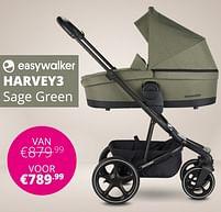 Aanbiedingen Easywalker harvey3 sage green - Easywalker - Geldig van 17/10/2021 tot 23/10/2021 bij Baby & Tiener Megastore