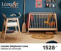 Aanbiedingen Leander babykamer linea - Leander - Geldig van 17/10/2021 tot 23/10/2021 bij Baby & Tiener Megastore
