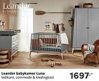 Aanbiedingen Leander babykamer luna - Leander - Geldig van 17/10/2021 tot 23/10/2021 bij Baby & Tiener Megastore