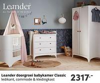 Aanbiedingen Leander doorgroei babykamer classic - Leander - Geldig van 17/10/2021 tot 23/10/2021 bij Baby & Tiener Megastore