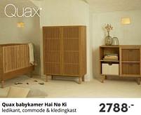 Aanbiedingen Quax babykamer hai no ki - Quax - Geldig van 17/10/2021 tot 23/10/2021 bij Baby & Tiener Megastore