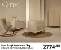 Aanbiedingen Quax babykamer mood clay - Quax - Geldig van 17/10/2021 tot 23/10/2021 bij Baby & Tiener Megastore