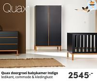 Aanbiedingen Quax doorgroei babykamer indigo - Quax - Geldig van 17/10/2021 tot 23/10/2021 bij Baby & Tiener Megastore