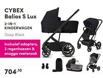 Aanbiedingen Cybex balios s lux 2-in-1 kinderwagen - Cybex - Geldig van 17/10/2021 tot 23/10/2021 bij Baby & Tiener Megastore