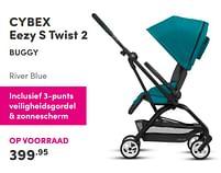 Aanbiedingen Cybex eezy s twist 2 buggy - Cybex - Geldig van 17/10/2021 tot 23/10/2021 bij Baby & Tiener Megastore