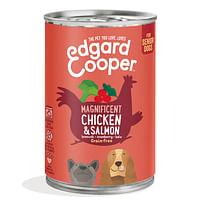 Aanbiedingen 6x Edgard&Cooper Blik Vers Vlees Senior Kip - Zalm 400 gr - Lee Cooper - Geldig van 20/10/2021 tot 03/11/2021 bij Plein