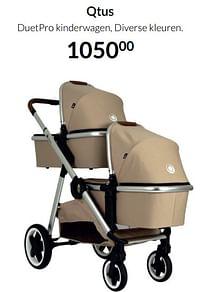 Aanbiedingen Qtus duetpro kinderwagen - QTUS - Geldig van 19/10/2021 tot 15/11/2021 bij Babypark