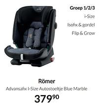 Aanbiedingen Römer advansafix i-size autostoeltje blue marble - Romer - Geldig van 19/10/2021 tot 15/11/2021 bij Babypark