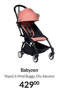 Aanbiedingen Babyzen yoyo2 6 mnd buggy - Babyzen - Geldig van 19/10/2021 tot 15/11/2021 bij Babypark