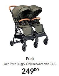 Aanbiedingen Puck join twin buggy - Puck - Geldig van 19/10/2021 tot 15/11/2021 bij Babypark