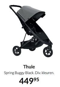 Aanbiedingen Thule spring buggy black - Thule - Geldig van 19/10/2021 tot 15/11/2021 bij Babypark