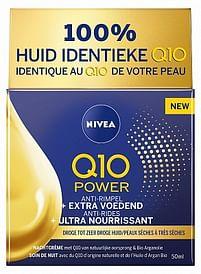 Aanbiedingen Nivea Nachtcreme Q10 Power Extra voedend 50ml - Nivea - Geldig van 23/10/2021 tot 06/11/2021 bij Drogisterij.net