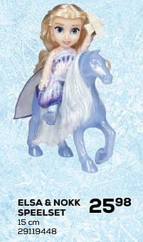 Aanbiedingen Elsa + nokk speelset - Disney  Frozen - Geldig van 22/10/2021 tot 07/12/2021 bij Supra Bazar
