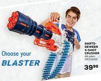 Aanbiedingen Dartsgeweer x-shot crusher - X-Shot - Geldig van 22/10/2021 tot 07/12/2021 bij Supra Bazar