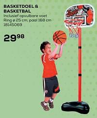 Aanbiedingen Basketdoel + basketbal - Huismerk - Supra Bazar - Geldig van 22/10/2021 tot 07/12/2021 bij Supra Bazar