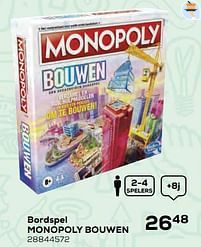 Aanbiedingen Bordspel monopoly bouwen - Hasbro - Geldig van 22/10/2021 tot 07/12/2021 bij Supra Bazar