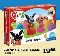 Aanbiedingen Clemmy bing speelset - Clementoni - Geldig van 22/10/2021 tot 07/12/2021 bij Supra Bazar