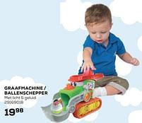 Aanbiedingen Graafmachine - ballenschepper - Hap P Kid - Geldig van 22/10/2021 tot 07/12/2021 bij Supra Bazar