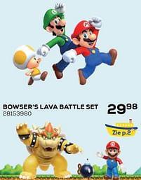 Aanbiedingen Bowser's lava battle set - Nintendo - Geldig van 22/10/2021 tot 07/12/2021 bij Supra Bazar