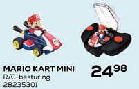 Aanbiedingen Mario kart mini - Super Mario - Geldig van 22/10/2021 tot 07/12/2021 bij Supra Bazar