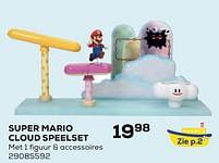 Aanbiedingen Super mario cloud speelset - Super Mario - Geldig van 22/10/2021 tot 07/12/2021 bij Supra Bazar