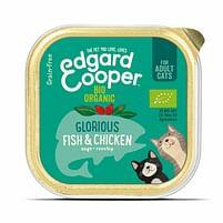 Aanbiedingen Edgard&Cooper Vers Kattenvoer Bio Kip - Vis 85 gr - Lee Cooper - Geldig van 24/10/2021 tot 07/11/2021 bij Plein