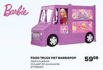 Aanbiedingen Food truck met barbiepop - Mattel - Geldig van 22/10/2021 tot 07/12/2021 bij Supra Bazar
