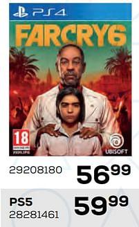 Aanbiedingen Farcry6 ps4 - Ubisoft - Geldig van 22/10/2021 tot 07/12/2021 bij Supra Bazar