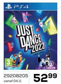 Aanbiedingen Just dance 2022 - Ubisoft - Geldig van 22/10/2021 tot 07/12/2021 bij Supra Bazar