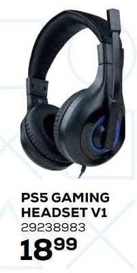 Aanbiedingen Ps5 gaming headset v1 - BIGben - Geldig van 22/10/2021 tot 07/12/2021 bij Supra Bazar