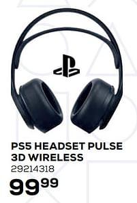 Aanbiedingen Ps5 headset pulse 3d wireless - Sony - Geldig van 22/10/2021 tot 07/12/2021 bij Supra Bazar