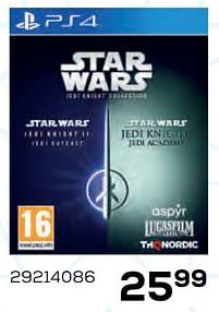 Aanbiedingen Star wars jedi knight - THQ - Geldig van 22/10/2021 tot 07/12/2021 bij Supra Bazar