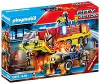 Aanbiedingen 70557 Brandweer met brandweerwagen - Playmobil - Geldig van 12/04/2021 tot 26/04/2021 bij Toychamp