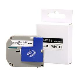 Aanbiedingen Compatible Brother M-K221 tape zwart op wit 9 mm Alleeninkt -  - Geldig van 21/05/2021 tot 09/08/2021 bij Alleeninkt