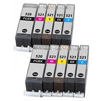 Aanbiedingen Compatible 2x Canon PGI-520 + CLI-521 XL Multipack met chip (5set) (inktcartridges) Alleeninkt - Canon - Geldig van 21/05/2021 tot 26/06/2021 bij Alleeninkt