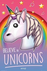 Aanbiedingen Emoji Believe In Unicorns - Maxi Poster (769) -  - Geldig van 21/05/2021 tot 26/06/2021 bij Expo XL