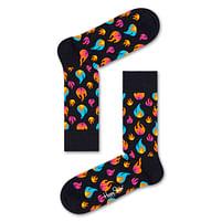 Aanbiedingen Happy Socks Flame Sokken, Zwart - Happy Girl - Geldig van 21/05/2021 tot 26/06/2021 bij Expo XL