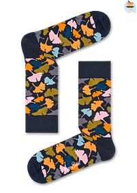Aanbiedingen Happy Socks Ginkgo Sokken, Donkerblauw - Happy Girl - Geldig van 21/05/2021 tot 26/06/2021 bij Expo XL