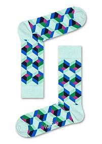 Aanbiedingen Happy Socks Optic Square Sokken, Mintgroen - Happy Horse - Geldig van 21/05/2021 tot 09/08/2021 bij Expo XL