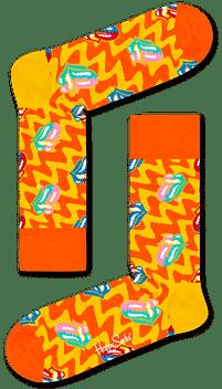 Aanbiedingen Happy Socks x The Rolling Stones: Beast of Burden, Oranje - Happy Horse - Geldig van 21/05/2021 tot 09/08/2021 bij Expo XL