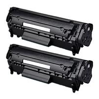 Aanbiedingen Compatible 2x HP 12A (Q2612A) toner zwart (toners) Alleeninkt - HP - Geldig van 21/05/2021 tot 09/08/2021 bij Alleeninkt