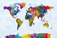 Aanbiedingen Watercolor World Map - Maxi Poster (679) -  - Geldig van 21/05/2021 tot 26/06/2021 bij Expo XL